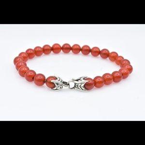David Yurman spiritual bead  with  Cornelian 8.5